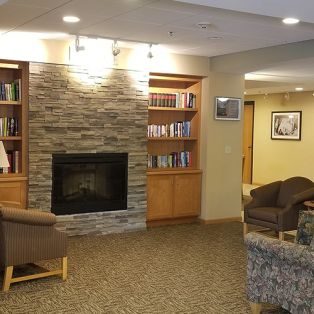 Evans Park Library and Fireplace