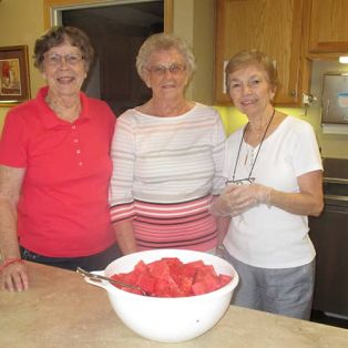 Residents with Watermelon