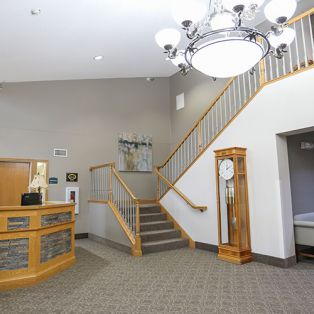 Reception Area and Stairs